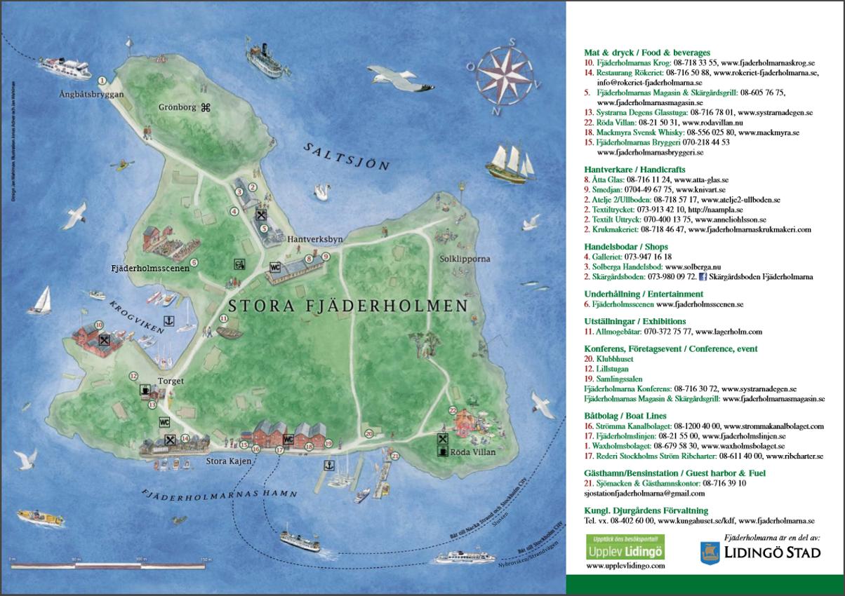 Fjaderholmarna map